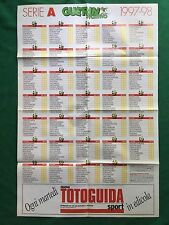 (FM11) CALENDARIO CAMPIONATO CALCIO 1997/1998 A B Poster 80x55 Guerin Sportivo