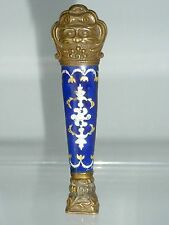 Antique French Bresse Enamel Wax Desk Seal Grotesque or Lion Figure Head