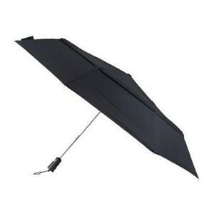 New! Totes Bigtop Auto Open/Close Windproof Double Canopy Umbrella Extra Wide