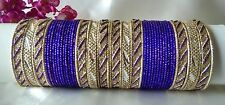 Indian Bollywood 52pcs Violet Colored Stunning Bridal Bangles Set Jewelry 2.6.