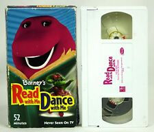 VHS Barney Read With Me Dance With Me 2 Videos In One Songs Music Dancing 52 min