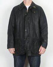"BARBOUR Beaufort Wax Jacket Chest 44"" Large XL Navy Blue (K2N)"
