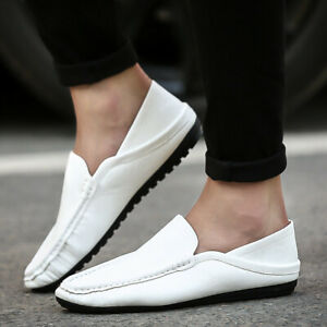 Men's Slip On Loafers Flats Fashion Casual Peas Shoes Comfort Driving Moccasins