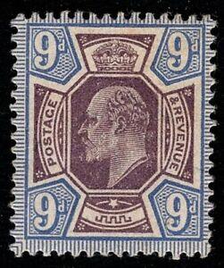 1912 KEVII SG308 9d Slate-Purple & Cobalt-Blue M41(4) MLH Mint OG CV £160