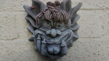 Gerty Gargoyle Wall Hanging - Hand Cast Stone Garden Ornament Plaque