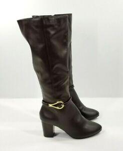 Dexflex Comfort Boots Size 11 Weaver Women's Brown Tall Dress Boot