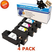 4 Pack Color Toner Cartridge Set for Dell E525W E525 525 Color Laser Printer