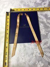 Swarovski Gift Bag Blue 7 x 3 x 8 (1 Bag) 7L x 3W x 8H Gold Straps