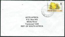 SWAZILAND 2000 cover 1e Butterfly, Piggs Peak cds..........................43415