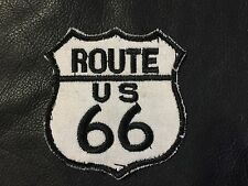 Vintage ROUTE US 66 PATCH motorcycle biker emblem for VEST JACKET