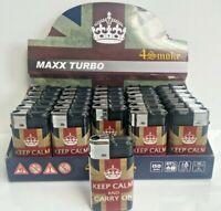 4SMOKE MAXX TURBO UNION JACK, BRITISH, WINDPROOF JET FLAME LIGHTERS, LIGHTER