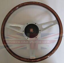"""New 15"""" Wood Steering Wheel & Hub Adaptor Austin Healey Sprite Bugeye 1958-1963"""