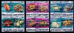 [P15109] Cook Isl 1980 : Corals - Good Lot of Very Fine MNH Stamps in blocks of