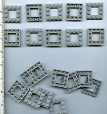 LEGO x 20 Light Bluish Gray Plate, Modified 4 x 4 with 2 x 2 Cutout NEW