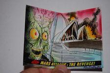 Opera House Australia Sketch Card-Topps Mars Attacks Revenge-Kiley Beecher-1/1