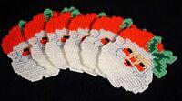 Handmade Vintage Santa Claus Christmas Coaster Set