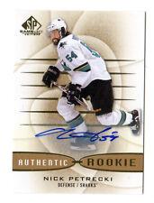 NICK PETRECKI NHL 2013-14 SP GAME USED GOLD AUTOGRAPHS (SAN JOSE SHARKS)