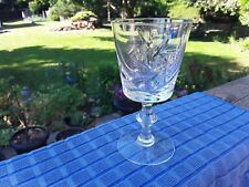 Pinwheel Crystal Wine Glass Stemware. Barware. Collectible Crystal. Nice