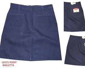 Gonna In Jeans Levi's orange tab blu scuro con tasche al ginocchio taglia W34/48