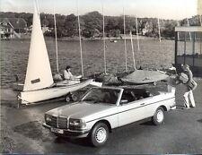 MERCEDES-BENZ w123 Cabrio da Crayford ORIGINALE stampa foto 1