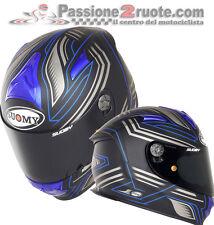 Casco integrale Suomy Sr sport Racing nero opaco blu mat blue taglia M