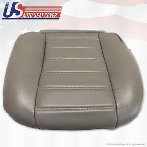 2003 to 2007 Hummer H2 Passenger Side Bottom Replacement Vinyl Seat Cover Gray