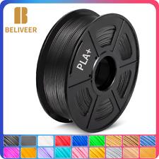 Beliveer 3D-Drucker PLA+ Filamentspule Geringe Schrumpfung 1,75 mm 1kg Schwarz