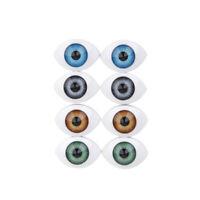 16 mm Vintage Brown Oval Hollow Glass Eyes Blown Glass Eyes 8.5 mm Iris E118