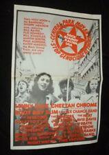 ROCK AGAINST RACISM POSTER FOR CENTRAL PARK USA 1979 DAVID PEEL LENNY KAYE