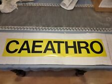 "VINTAGE 1980'S  30"" NORTH WALES BUS BLIND: CAETHRO"