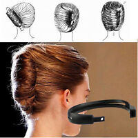 Women DIY Hair Styling Donut Bun Clip Tool French Twist Maker Holder Hair Sticks