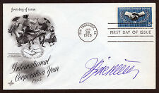 Simon Wiesenthal  - Nazi Hunter - Personally Autographed First Day Cover