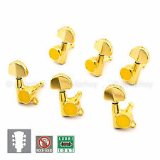 NEW Gotoh SG381-20 Grover Style Button Tuner 16:1 Ratio Keys Set 3x3 - GOLD