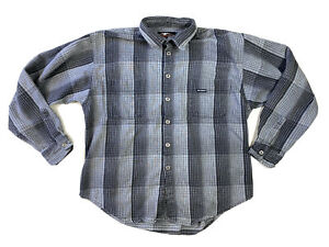 Harley Davidson Motorcycles Mens Long Sleeve Plaid Button Up Shirt Size XL