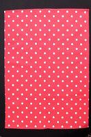 Geschirrtuch Trockentuch Küchentuch rot weiß gepunktet  Halbleinen 50 x70 Kracht