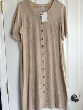 The Paragon Women's Large stone Button Down Dress NEW