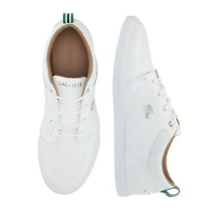 New Lacoste Men Shoes Bayliss 119 1 White Leather Casual Sneakers Shoes