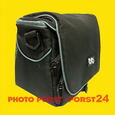 Mikrofaser Kamera Tasche schwarz für Panasonic DMC-FZ82 und Zubehoer