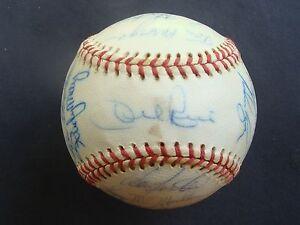 1972 California Angels Team Signed Autographed Baseball