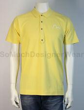 EVISU polo shirt XL geel NIEUW+LABELS np:€150