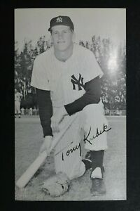 Tony Kubek New York Yankees Signed Stamped Autographed 4x6 McCarthy Postcard
