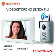 """THOMSON CITOFONO VIDEOCITOFONO SENZA FILI WIRELESS CON MONITOR 7"""" - INFRAROSSI"""