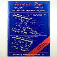 Greenberg's AMERICAN FLYER Trains S Gauge Parts List Exploded Diagrams Manual