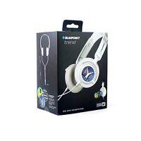 Blaupunkt Trend Foldable On-Ear Headphones Earphones - White **BRAND NEW**