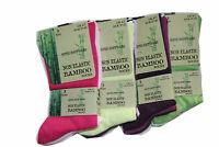 6 Pairs Of Ladies/mens Bamboo Loose Top Socks, Super Soft Anti Bacterial Socks
