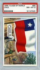 1956 Topps Flags of the World #69 Chile-PSA 8 Near Mint to Mint