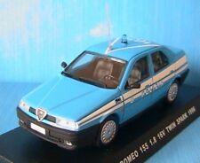 ALFA ROMEO 155 1.8 16V TWIN SPARK 1996 POLIZIA 1/43 NEW DEAGOSTINI ITALIA