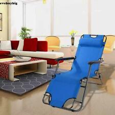 USA Folding Reclining Beach Sun Patio Chaise Lounge Chair Outdoor Pool Lawn New