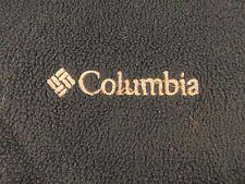 MEN'S AUTHENTIC COLUMBIA SPORTS BLUE FLEECE FULL ZIPPER JACKET LARGE W PIN LAPEL