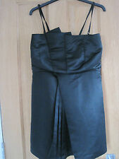 Women's EVIE black body con strapless dress evening dress size 12 BNWT